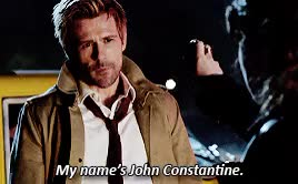 Watch john constantine in 1x01'non est asylum' GIF on Gfycat. Discover more *, I mean I''m so mad about that bierasure nonsense, but he's adorbs so I love, constantineedit, dcedit, i'm kind of totally in love, jcpe, john constantine, johnconstantineedit, matt ryan, my bisexual trash prince GIFs on Gfycat