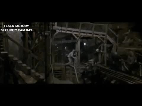 Watch and share Elon Musk Welcoming His Employees Back To Work In His Lair... Er, I Mean Factory... During The Pandemic. GIFs on Gfycat