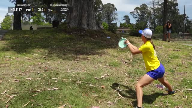 Watch 2018 Masters Cup FPO Rd. 3 Pt. 2  Paige Pierce hole 17 putt GIF by Benn Wineka UWDG (@bennwineka) on Gfycat. Discover more dgpt, dgwt, disc, disc golf, mcbeast, nate sexton, paul mcbeth, pdga, simon lizotte, tournament GIFs on Gfycat