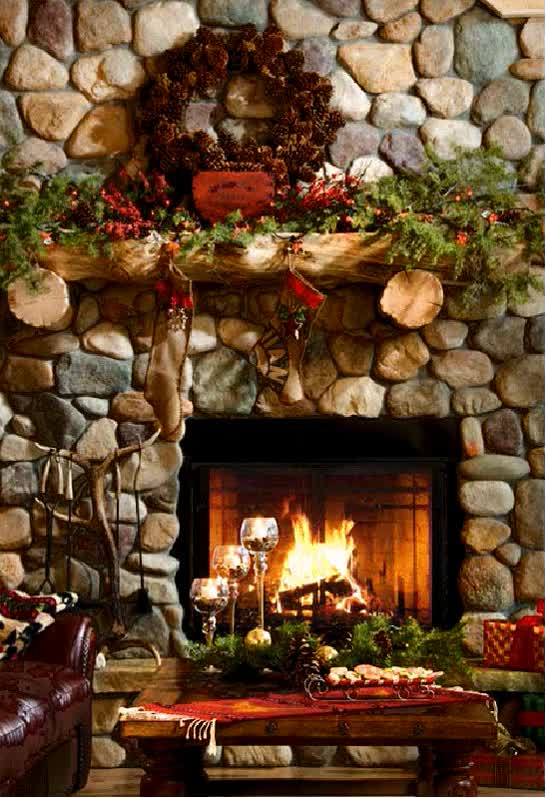 Watch and share Christmas #harth, #wreath #fireplace  animated stickers on Gfycat