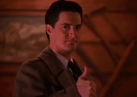 Watch and share Upon Hearing Of Twin Peaks Returning (.com) GIFs on Gfycat