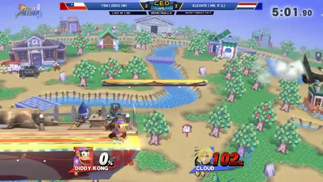 CEO Dreamland 2017 Smash 4 - TSM | ZeRo (Diddy Kong) Vs. Elevate | Mr. R (Sheik/Cloud) SSB4 GF