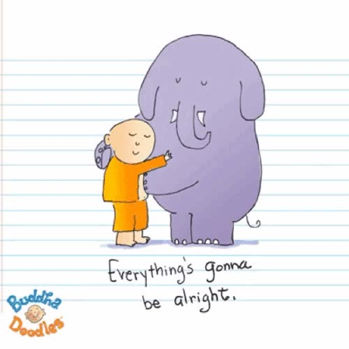 The first animated Buddha Doodles GIF!