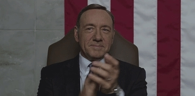 applause, clap, clapping, frank underwood, kevin spacey, slow clap, slowclap, Frank Underwood Slow Clap GIFs