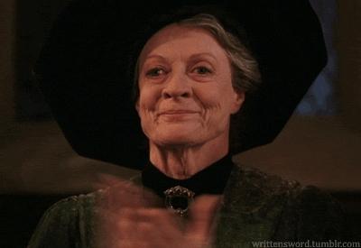 applause, clap, clapping, minerva mcgonagall, respect, slow clap, Minerva McGonagall Clapping GIFs