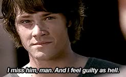 Watch 2x02 / 7x02 / 8x21 The Megalosaurus GIF on Gfycat. Discover more 1k, 500, everybody loves a clown, hello cruel world, hurt!sam, just because he's always with the 'i'm fine', my gifs, my stuff, sam winchester, samedit, season 2, season 7, season 8, so it is a rare thing that will make him admit that he's actually not fine at all, spn gif meta, spn parallels, spnedit, supernatural, the great escapist, trials!sam GIFs on Gfycat