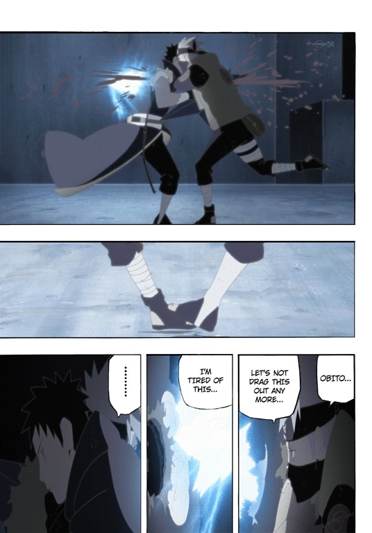 anime, irishsaltytuna, [OC] Anime-manga comparison gifs: Kakashi vs Obito full fight. (Spoilers for Naruto Shippuden Episode 375) (reddit) GIFs