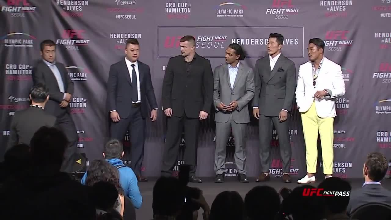 wmma, A wild Ham Seo Hee appears at UFC: Seoul, Korea tickets on sale press conference! (reddit) GIFs