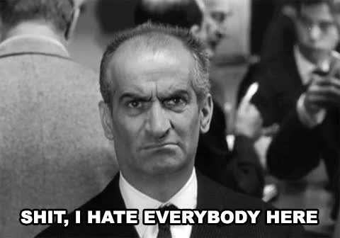 Watch and share Louis De Funes GIFs and Misanthropy GIFs by werwolf on Gfycat