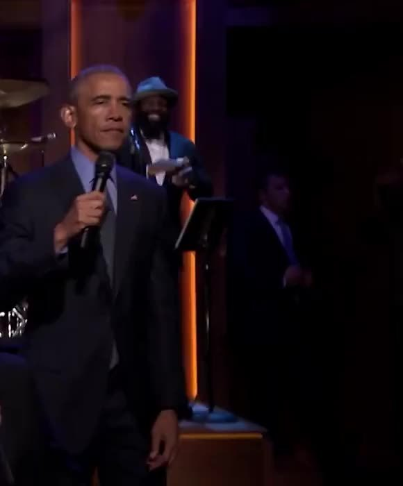 Barack Obama, barackoabama, jimmyfallon, micdrop, Obama double mic drop GIFs