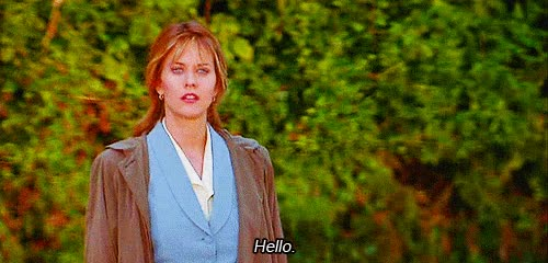 Watch and share Meg Ryan GIFs and Hello GIFs on Gfycat
