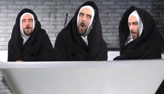 Watch and share Three GIFs and Nuns GIFs on Gfycat