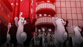 another episode, danganronpa, danganronpa another episode, drae, genocider syo, haiji towa, komaru naegi, kotoko utsugi, kurokuma, makoto naegi, monaka, monokuma, mygif, nagisa shingetsu, shirokuma, touko fukawa,