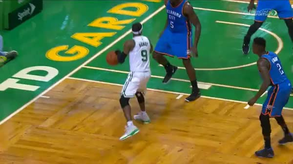 Watch Rajon Rondo doing some kinda crazy wrap around dribble thing (reddit) GIF on Gfycat. Discover more nba, scoreball GIFs on Gfycat