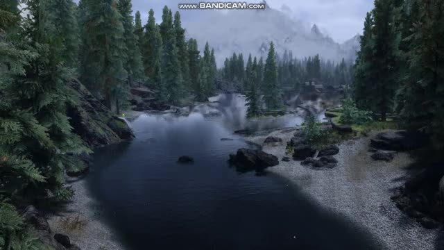 Watch and share SkyrimSE Water LOD Issue Lake Illinata GIFs by dorsum on Gfycat