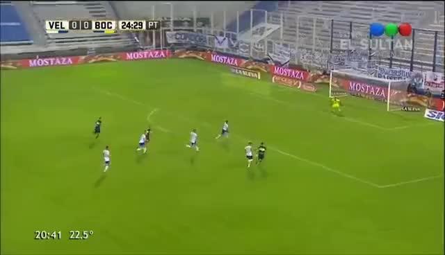 Watch and share Gol De Benedetto (0-1) / Vélez 1 - 3 Boca Juniors - Fecha 19 Torneo Argentino 2016/17 GIFs on Gfycat