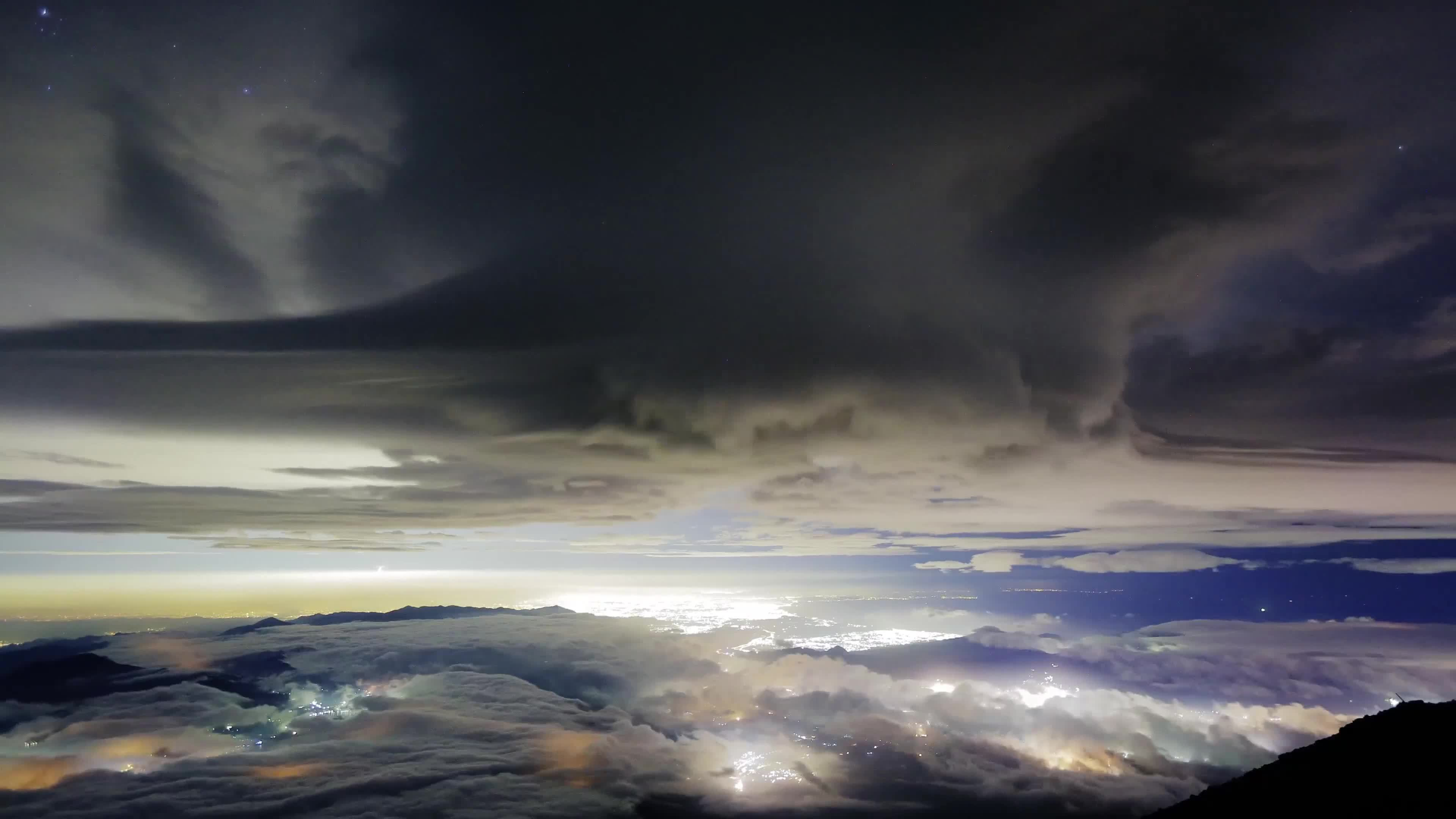 nature, timelapse, 吊るし雲, 富士山, 微速度, Great Nature - From The Top Of Mt.FUJI , JAPAN - 4K GIFs