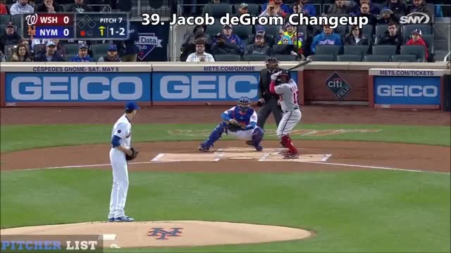 Watch jacob degrom changeup 2018 GIF by Ely Sussman (@realely) on Gfycat. Discover more Baseball, Curveball, Filthy, Nastiest Pitches, New York Mets, Pitcher List, Pitches, Slider, Washington Nationals, jacob degrom, mets GIFs on Gfycat
