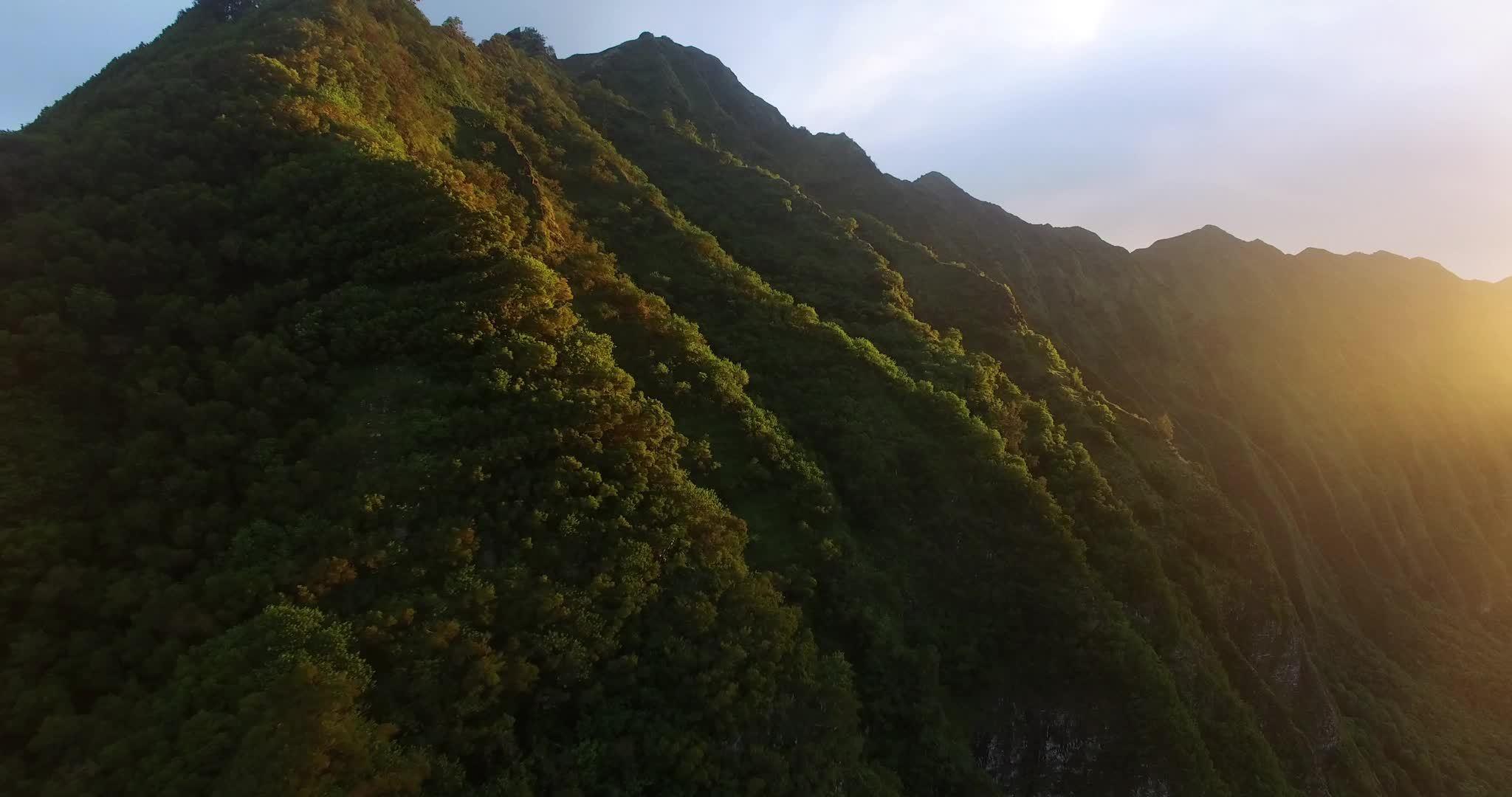 djiphantom, earthporn, sunset, Hawaiian Ridge Sunset - Drone Shot GIFs