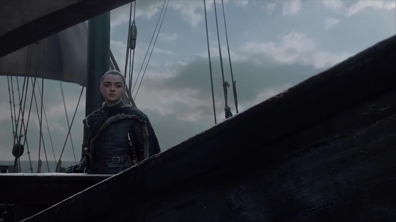 arya stark, game of thrones, maisie williams, sailboat, season 8, west, Game of Thrones Arya Sails West GIFs