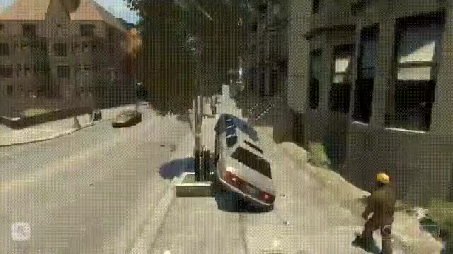 Watch [GTA IV] Just Missed It • r/GamePhysics GIF on Gfycat. Discover more related GIFs on Gfycat