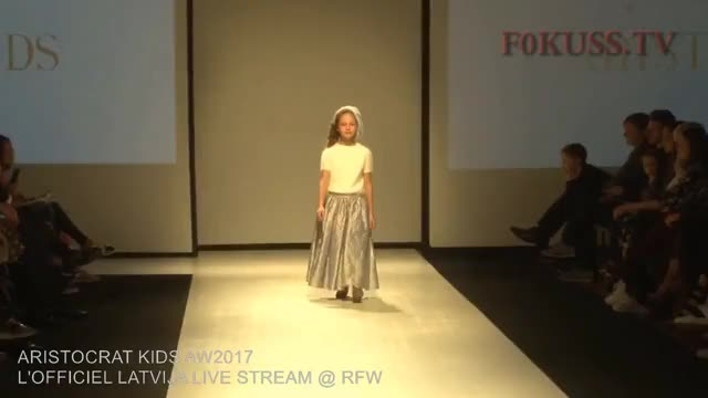 Watch and share L'OFFICIEL LATVIJA Live Stream @ RIGA FASHION WEEK: ARISTOCRAT KIDS AW2017 GIFs on Gfycat