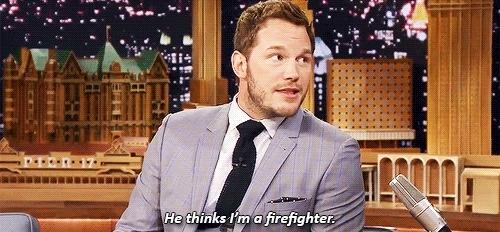 chris pratt, fallon tonight, firefighter, fireman, the tonight show, the tonight show starring jimmy fallon, Firefighter GIFs