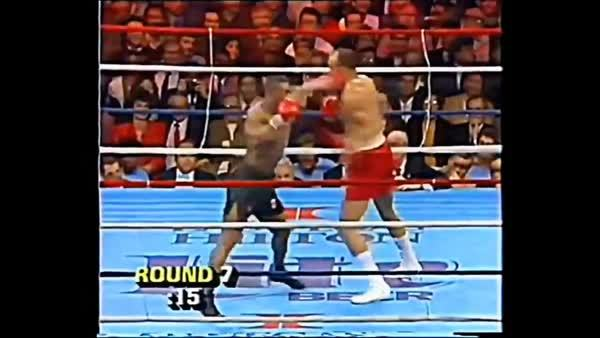 outoftheloop, www.SugarBoxing.com. Mike Tyson lands his jab and slips the counter right GIFs