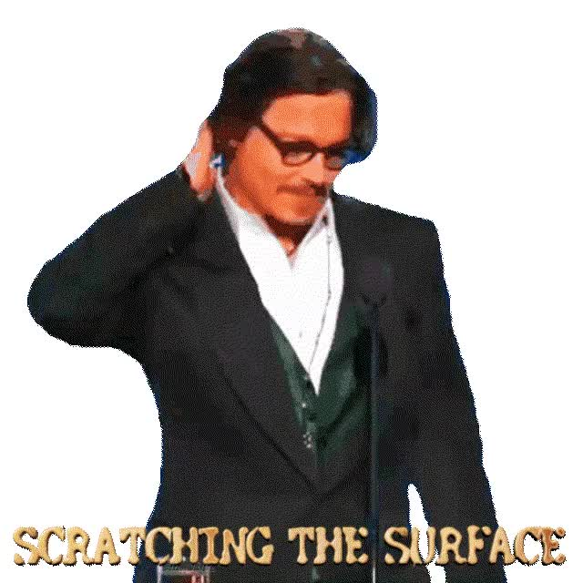 Watch and share Johnny Depp Sticker GIFs and Scratching Sticker GIFs by AtraBilis on Gfycat