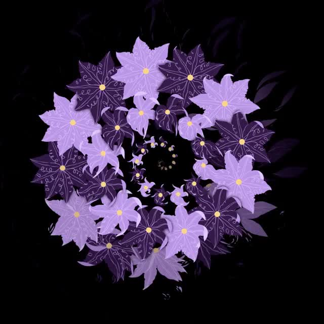 Watch this flowers GIF by The GIF Smith (@sannahparker) on Gfycat. Discover more anna taberko, floral, flowers, purple, vortex GIFs on Gfycat