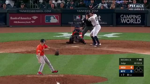 Watch and share Aaron Judge Solo Homerun Vs Astros | Yankees Vs Astros Game 4 ALCS GIFs on Gfycat