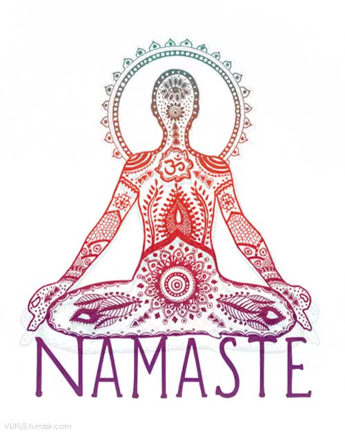 "Watch and share Vufus: "" ""Namaste"" Artist: Leslie Sabella "" GIFs on Gfycat"