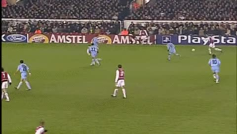 Watch and share Thierry Henry. Arsenal - Celta Vigo. 10.03.2004 GIFs by fatalali on Gfycat