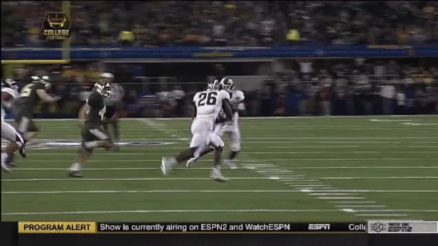 Watch and share Baylor Kicker Gets Destroyed After Block GIFs on Gfycat