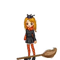 Watch Halloween witch animated doll girl pixel broomstick gif animation GIF on Gfycat. Discover more related GIFs on Gfycat
