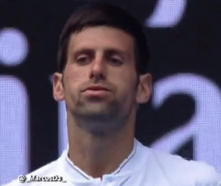 Watch and share Novak Djokovic Lips Flapping Reaction GIFs by MarcusD on Gfycat