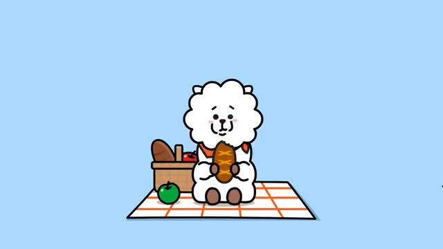 Watch and share [BT21] Hi~ I Am RJ GIFs on Gfycat