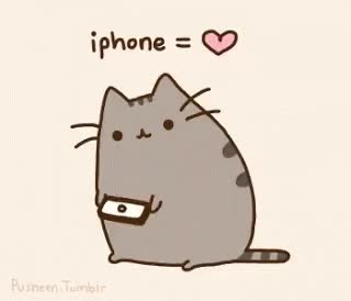 Watch and share Iphones Pusheen GIFs on Gfycat