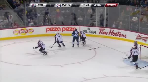 herecomestheboom, hockey, Dustin Byfuglien back to back huge hits. (reddit) GIFs