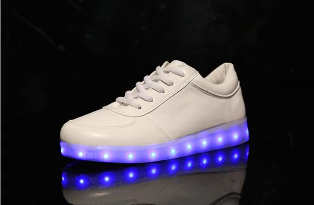 Watch and share Fashion Fluorescent Led Shoes Usb Charging GIFs on Gfycat