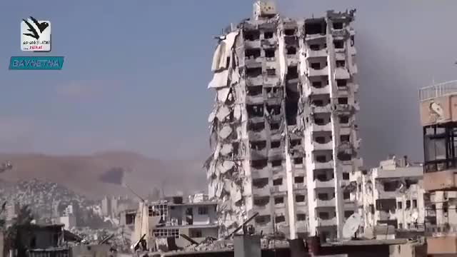 Watch and share Syria   Building Collapse In Damascus GIFs on Gfycat