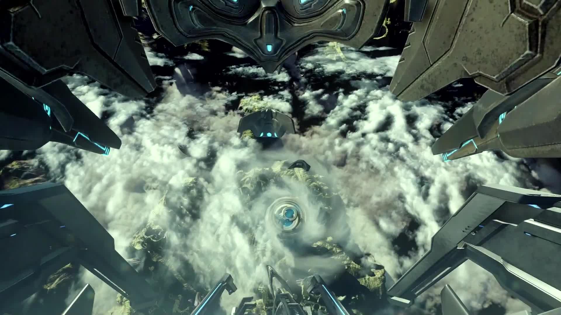 Gaming, Halo 5 Genesis, Halo 5 Guardian Jump, Halo 5 Guardians, SkyboxGuru, Halo 5 Guardians: Genesis GIFs