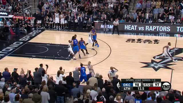 Watch and share NBA_One-Play (Thunder Win On Bizarre Final Sequence) 2016/05/02 ESHEET GIFs on Gfycat