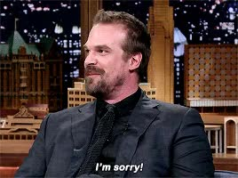 Watch this david harbour GIF on Gfycat. Discover more david harbour, im sorry, sorry GIFs on Gfycat
