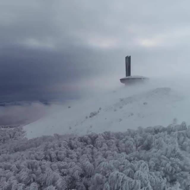 Watch and share The Buzludzha Monument In Bulgaria GIFs by MyNameGifOreilly on Gfycat