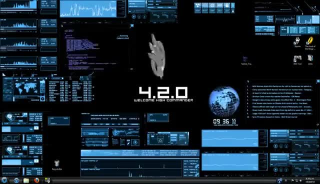 Watch and share Rainmeter / BlueVision V0.2 Customized Desktop ( Hacker CMD Skin ) GIFs on Gfycat