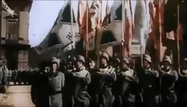 Watch and share Horst-Wessel-Lied - Wehrmacht Marching To Anthem Of Nazi Germany GIFs on Gfycat