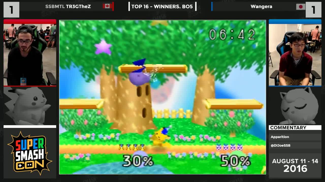 2016, smash, smashgifs, SSC16  - SSBMTL | TR3GTheZ (Pikachu) vs Wangera (Jigglypuff) Winners - SSB64 GIFs