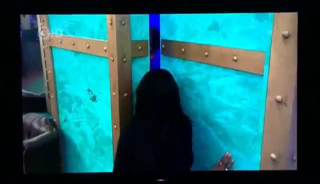 Tiffany flirting with Scotty T in the bathroom 😂 #CBB GIFs