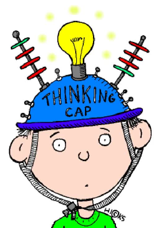Watch and share Thinking Clipart Ani Thinkingcap GIFs on Gfycat